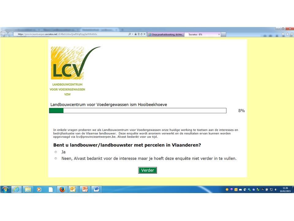 Wil je dat we kort op de bal spelen bij LCV? Vul onze enquête in en win !